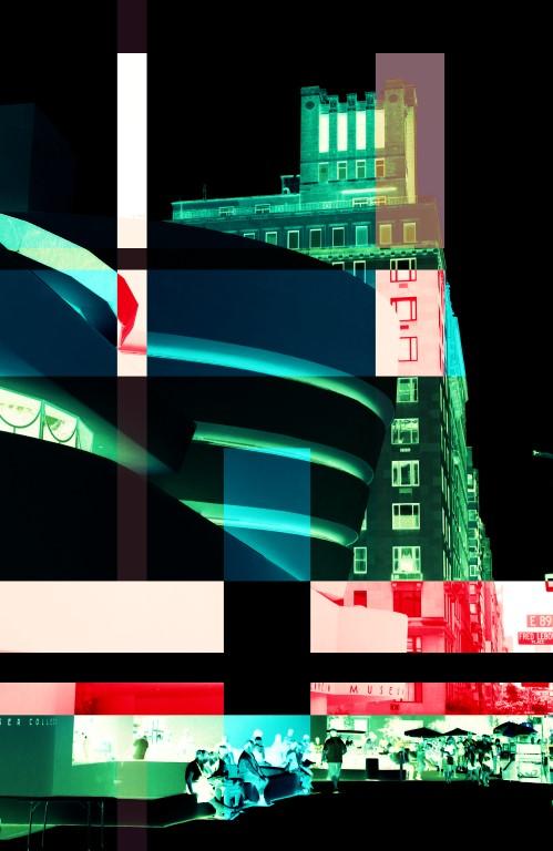 Part of a Triptych -- New York - Guggenheim Blocks - Black by K.Veijo
